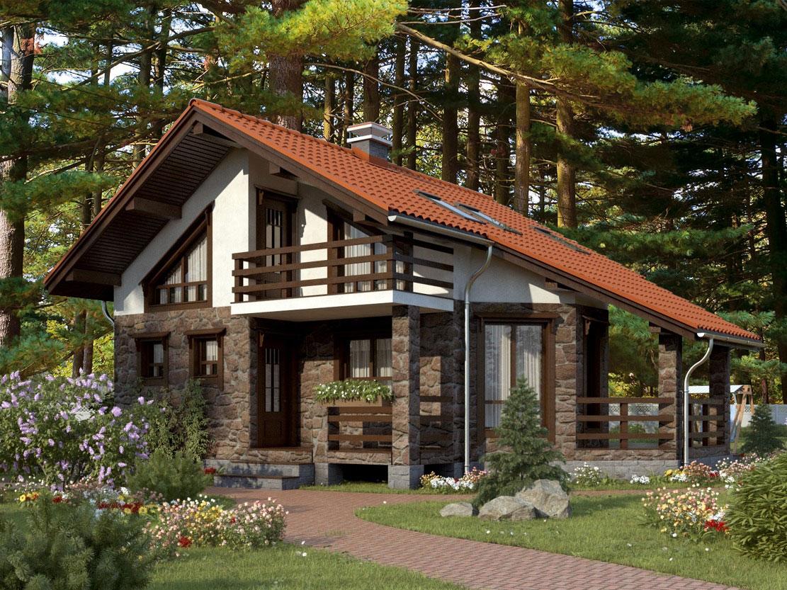 Проект дома рассвет в лесу